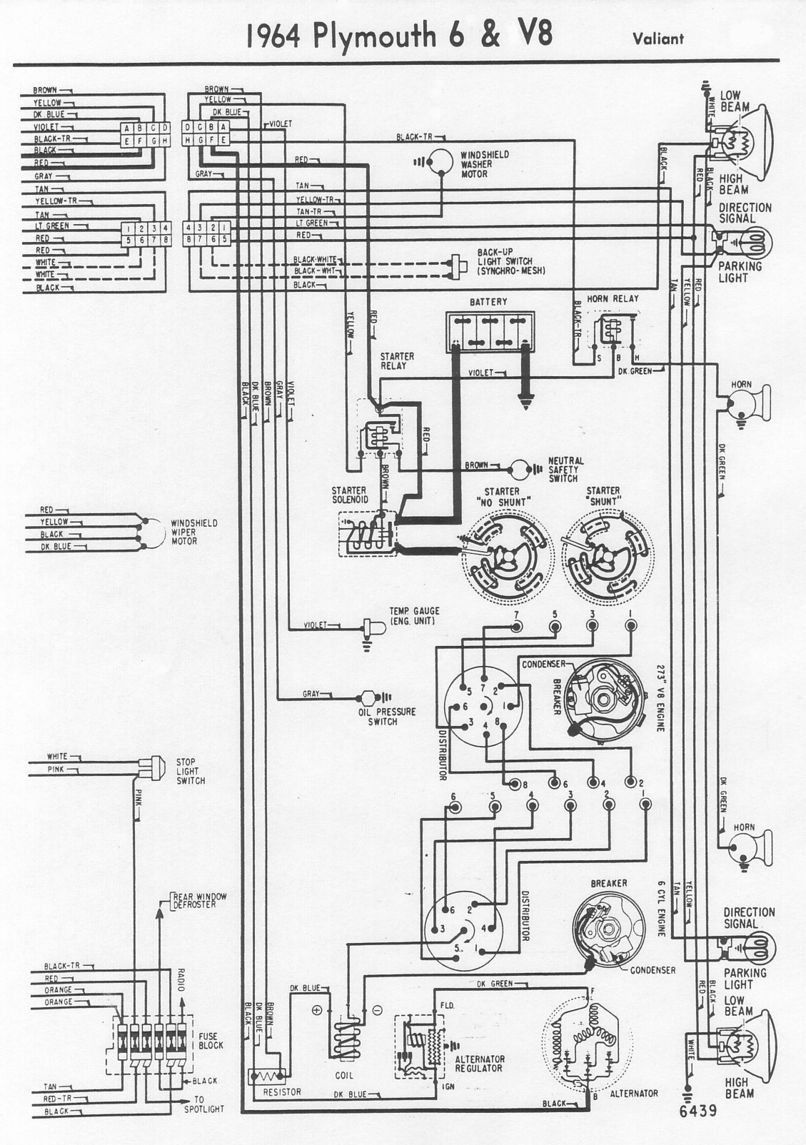 1964    Dodge       Dart       Wiring       Diagram         Wiring    Library