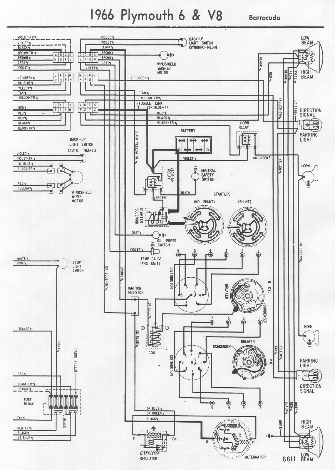 wrg 3746  64 plymouth fury wiring diagrams