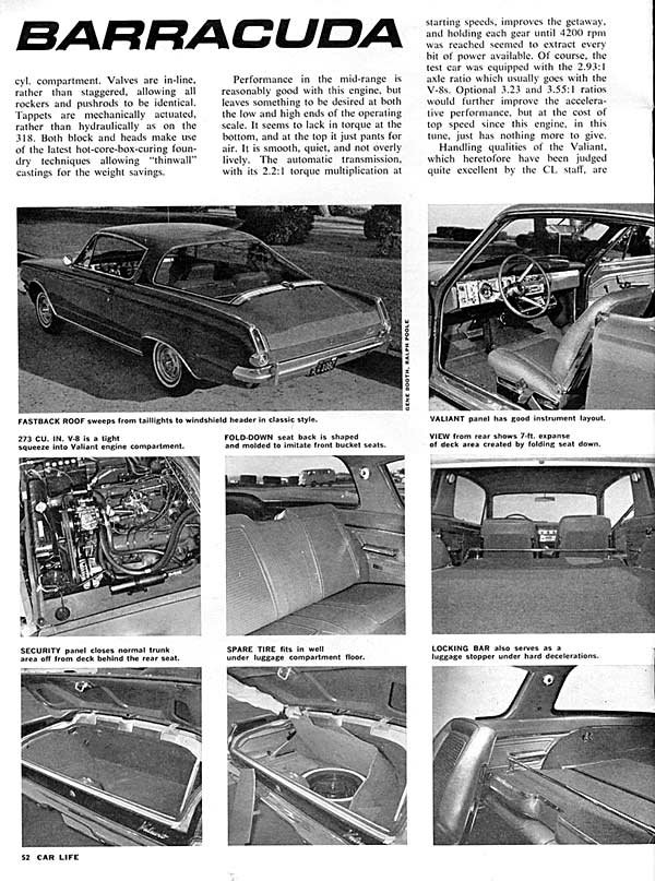 Motor Trend article, March 1965