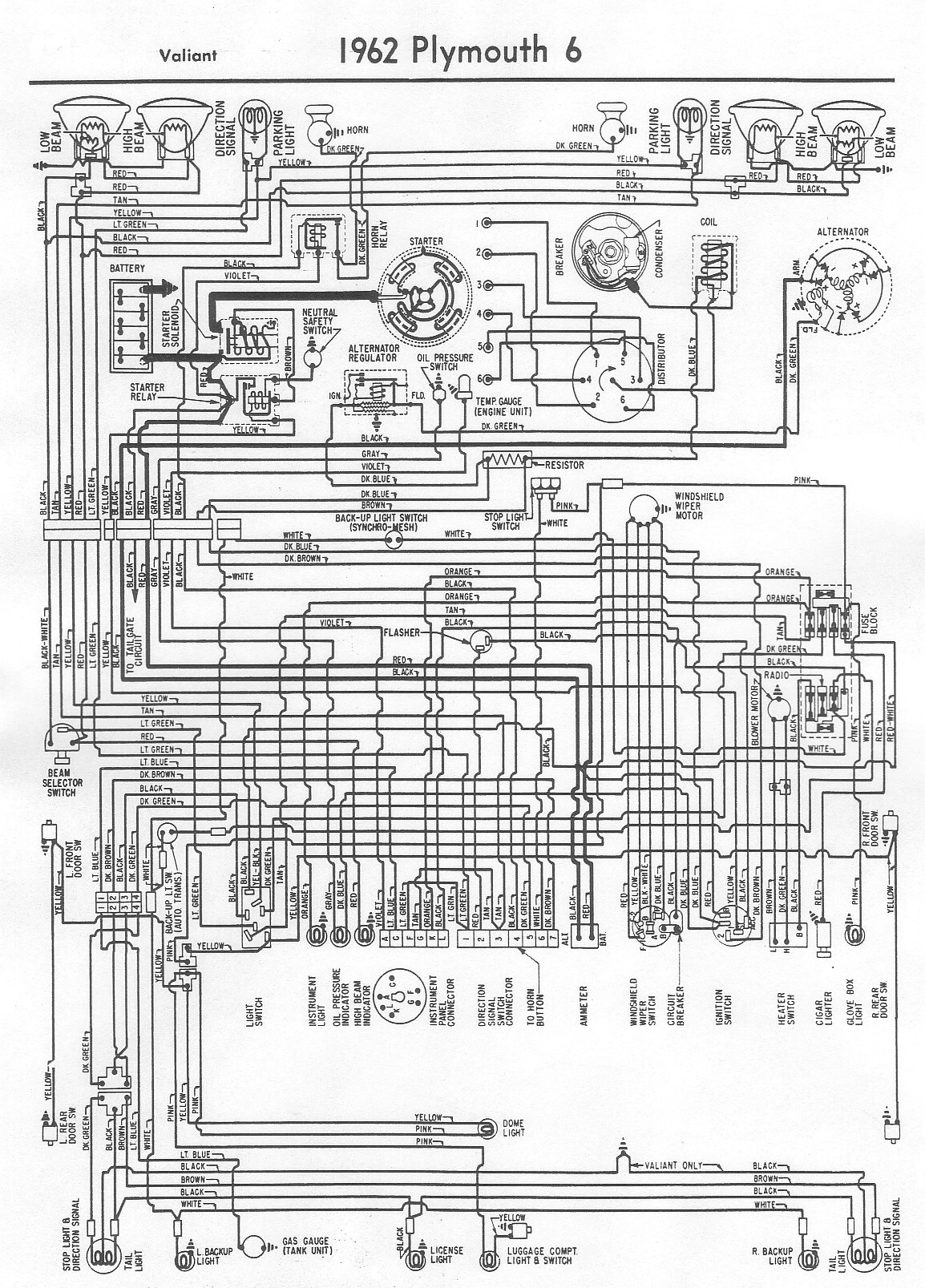62Valiant wiring diagrams 64 valiant wiring diagram at readyjetset.co