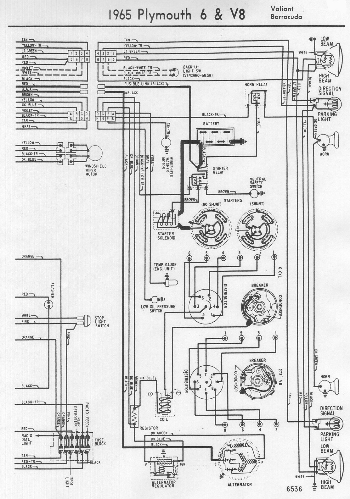 65ValiantBarracudaB wiring diagrams  at edmiracle.co