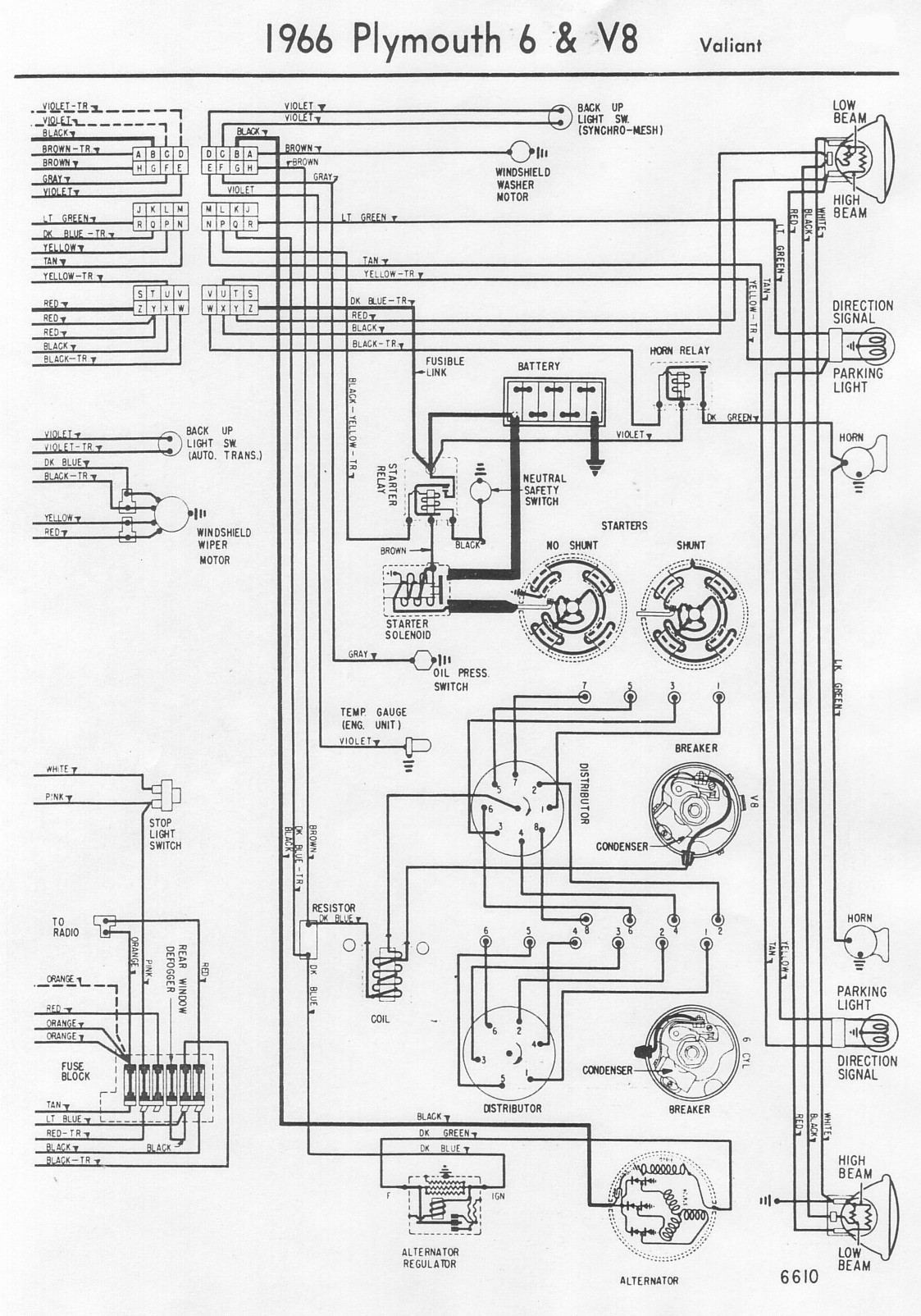66ValiantB wiring diagrams  at edmiracle.co